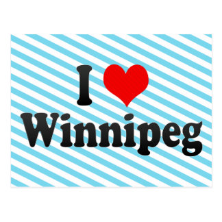 I Love Winnipeg, Canada Postcard