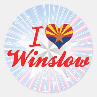 I Love Winslow, Arizona Classic Round Sticker