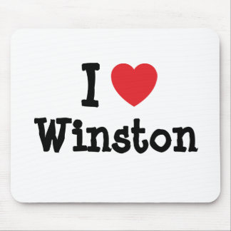I love Winston heart custom personalized Mouse Pad