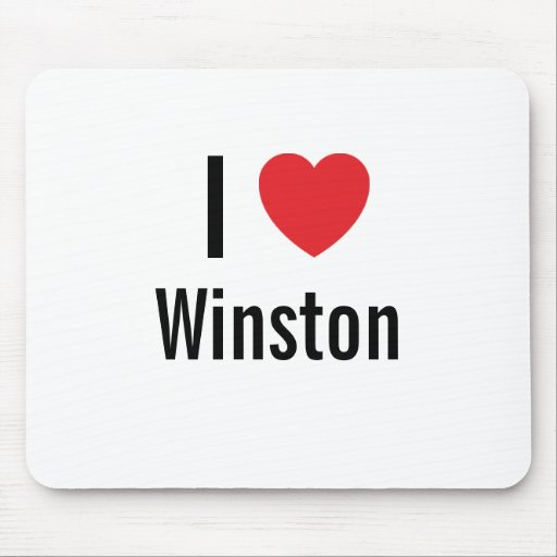 I love Winston Mouse Pad