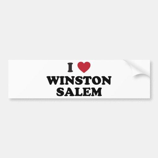 I Love Winston Salem North Carolina Bumper Sticker