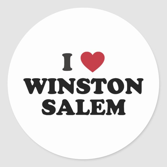 I Love Winston Salem North Carolina Classic Round Sticker