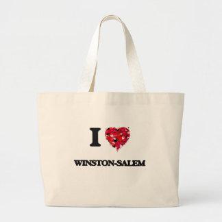 I love Winston-Salem North Carolina Jumbo Tote Bag