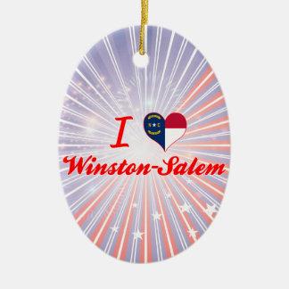 I Love Winston-Salem North Carolina Ornaments