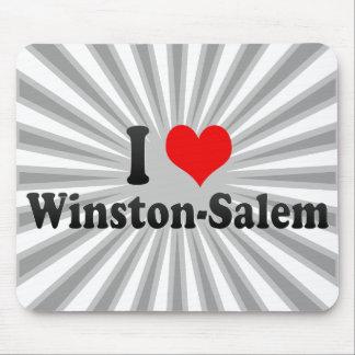 I Love Winston-Salem, United States Mouse Pad