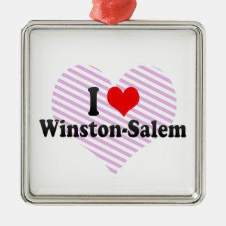 I Love Winston-Salem United States Christmas Ornament