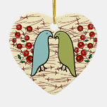 I Love Winter Birds and Berries (Personalized) Ornament