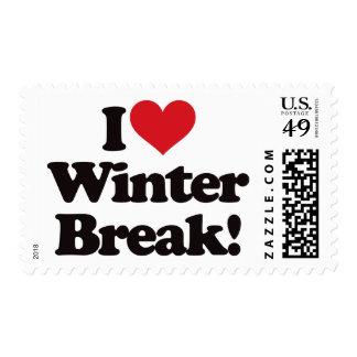 I Love Winter Break! Postage