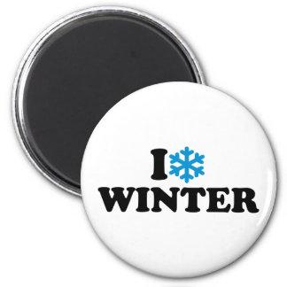 I love winter magnet