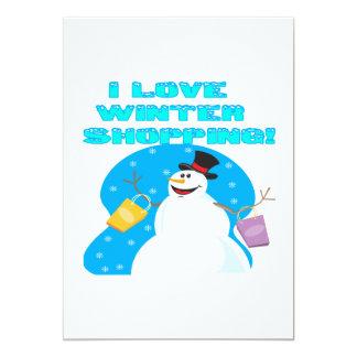 I Love Winter Shopping 5x7 Paper Invitation Card