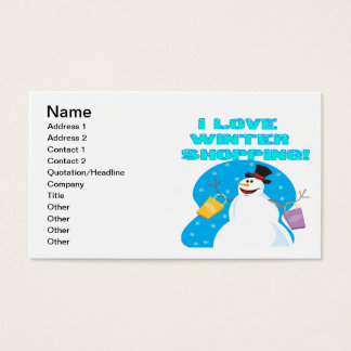 I Love Winter Shopping Business Card