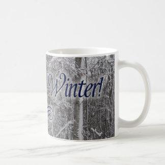 """I Love Winter"" Snow-Covered Trees Mug"