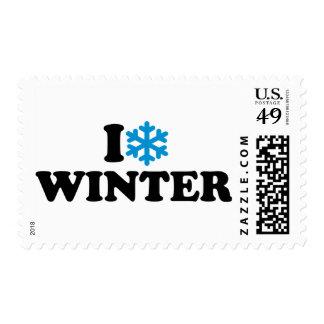 I love winter stamp