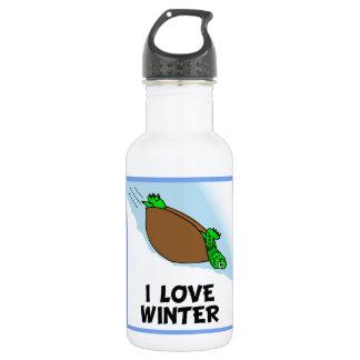 I Love Winter Water Bottle