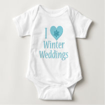 I Love Winter Weddings Baby Bodysuit