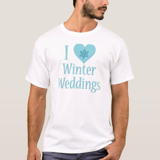 I Love Winter Weddings T-Shirt
