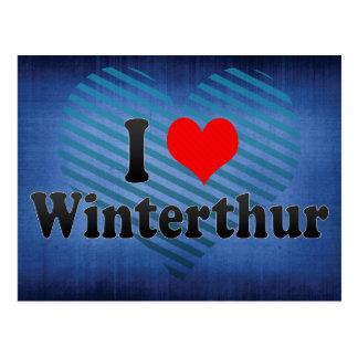 I Love Winterthur, Switzerland Postcard