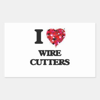 I love Wire Cutters Rectangular Sticker
