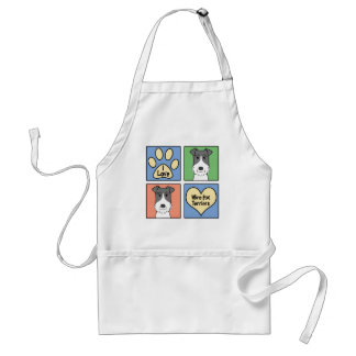 I Love Wire Fox Terriers Apron
