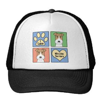 I Love Wire Fox Terriers Trucker Hat