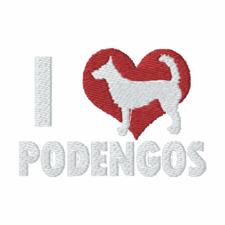 I Love Wire Podengos Embroidered T-Shirt