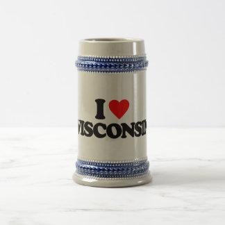 I LOVE WISCONSIN 18 OZ BEER STEIN