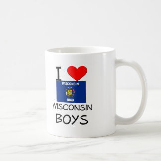 I Love Wisconsin Boys Coffee Mug