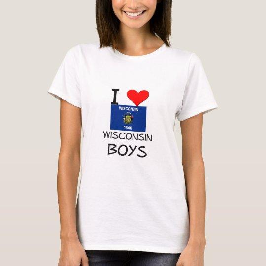 I Love Wisconsin Boys T-Shirt