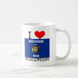 I Love Wisconsin Coffee Mug