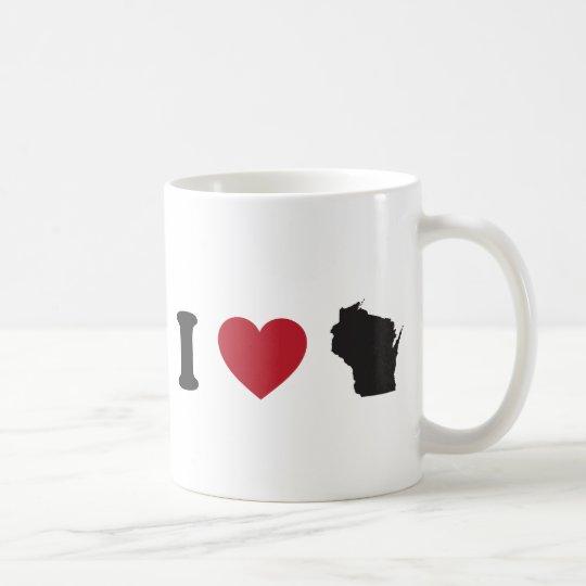 I Love Wisconsin Coffee Mug