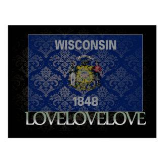 I love Wisconsin Cool Postcard