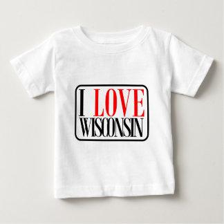 I Love Wisconsin Design Baby T-Shirt
