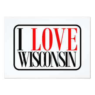 I Love Wisconsin Design Card