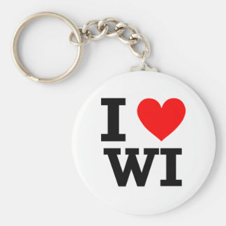I Love Wisconsin Design Keychain