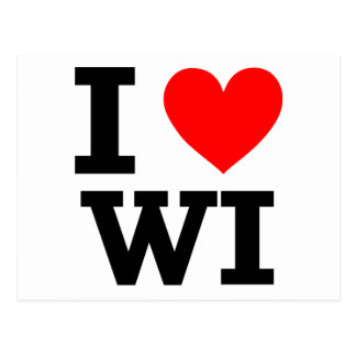 I Love Wisconsin Design Postcard