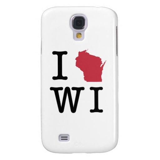 I Love Wisconsin Galaxy S4 Cases