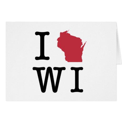 I Love Wisconsin Greeting Card