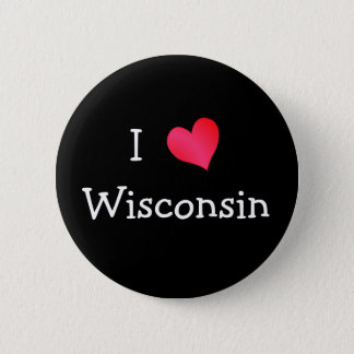 I Love Wisconsin Pinback Button