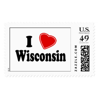 I Love Wisconsin Stamps