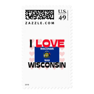 I Love Wisconsin Postage Stamps