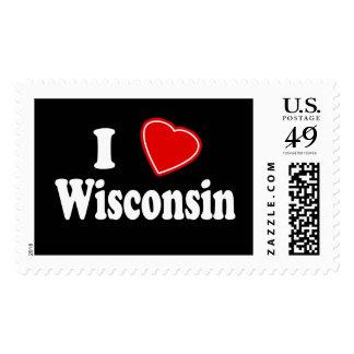 I Love Wisconsin Stamp
