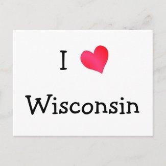 I Love Wisconsin postcard
