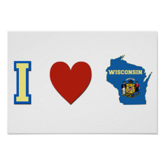 I Love Wisconsin Poster