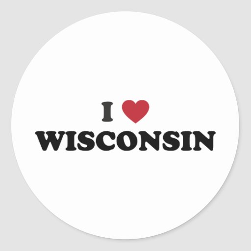 I Love Wisconsin Sticker