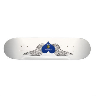 I Love Wisconsin -wings Skate Board