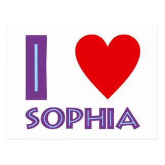 I love wisdom philosophy I love sophia Postcard
