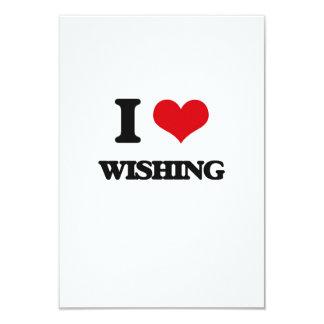 I love Wishing 3.5x5 Paper Invitation Card