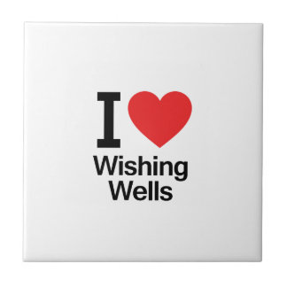 I Love Wishing Wells Ceramic Tiles