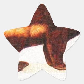 I Love Wolverine Star Sticker