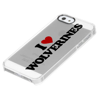 I LOVE WOLVERINES UNCOMMON CLEARLY™ DEFLECTOR iPhone 5 CASE